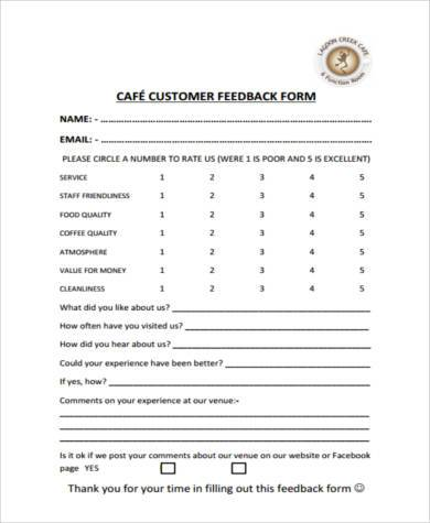 Sample Restaurant Feedback Forms - 7+ Free Documents In Word, Pdf