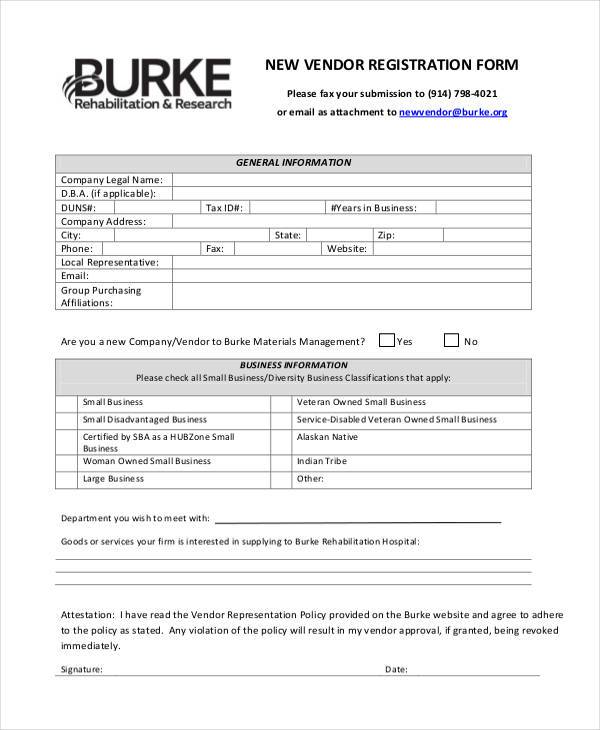 sample registration form template