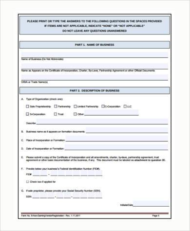 Sample Vendor Registration Forms - 7+ Free Documents In Word, Pdf