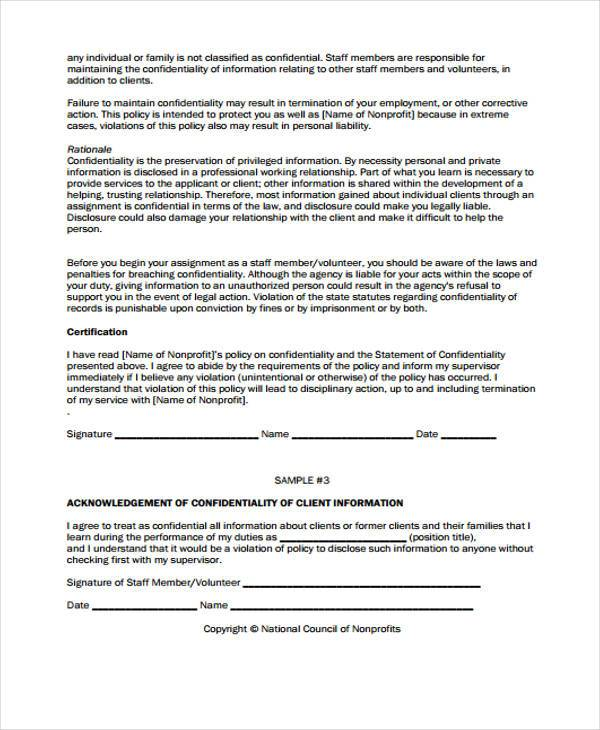 Volunteer Agreement Form Samples  Free Sample Example Format