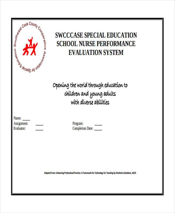 nurse employee evaluation form example1