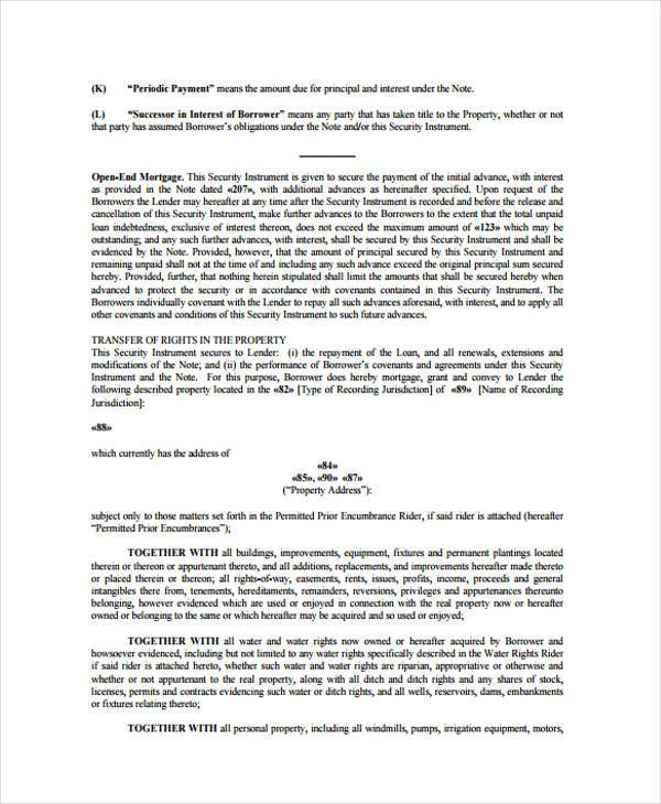 Doc575709 Mortgage Agreement Template Mortgage Agreement – Security Agreement Template