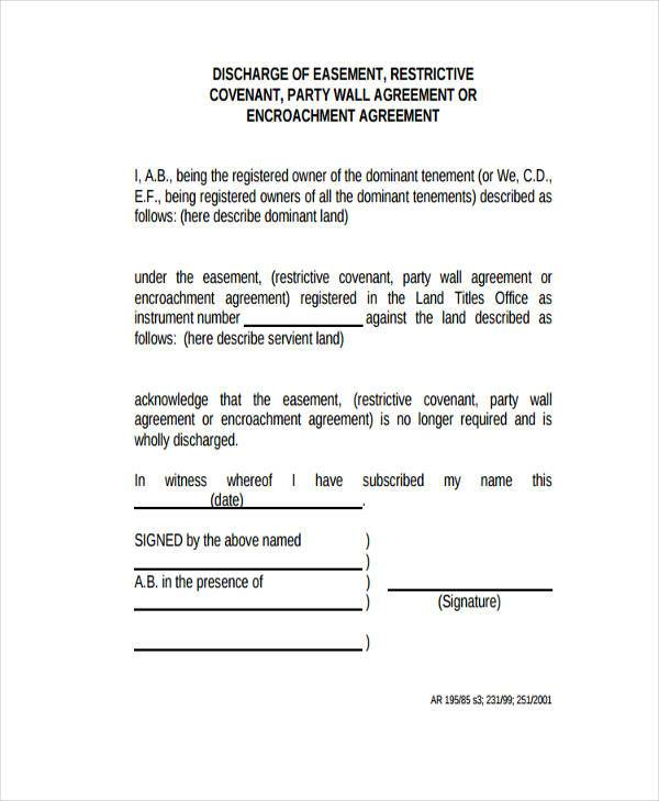 party wall agreement standard form