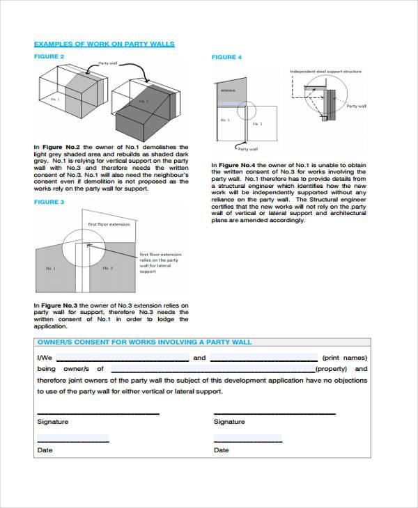 party wall consent form in pdf