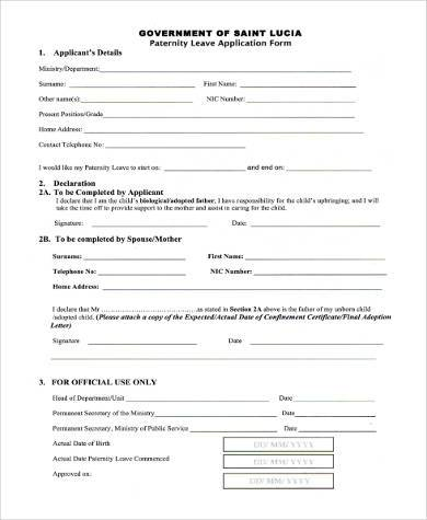 template letter parental leave with format for work paternity new 5