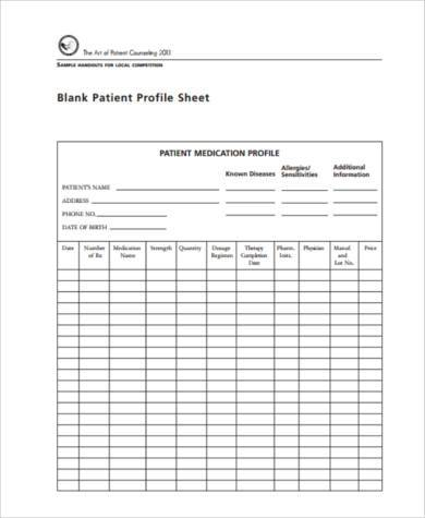 patient counseling evaluation form