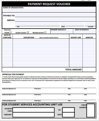 Sample Payment Request Forms   Free Documents In Word Pdf