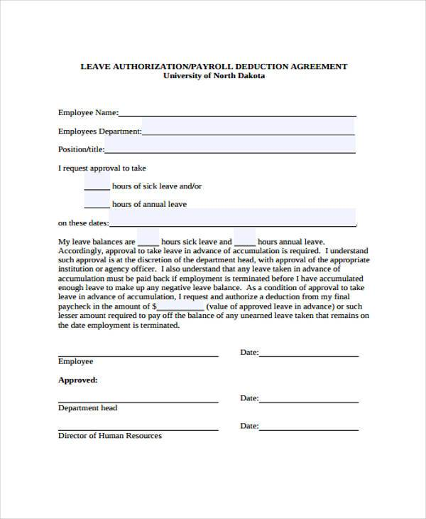 payroll advance authorization form