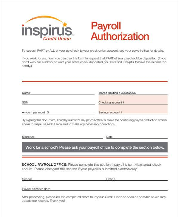 payroll giving authorization form