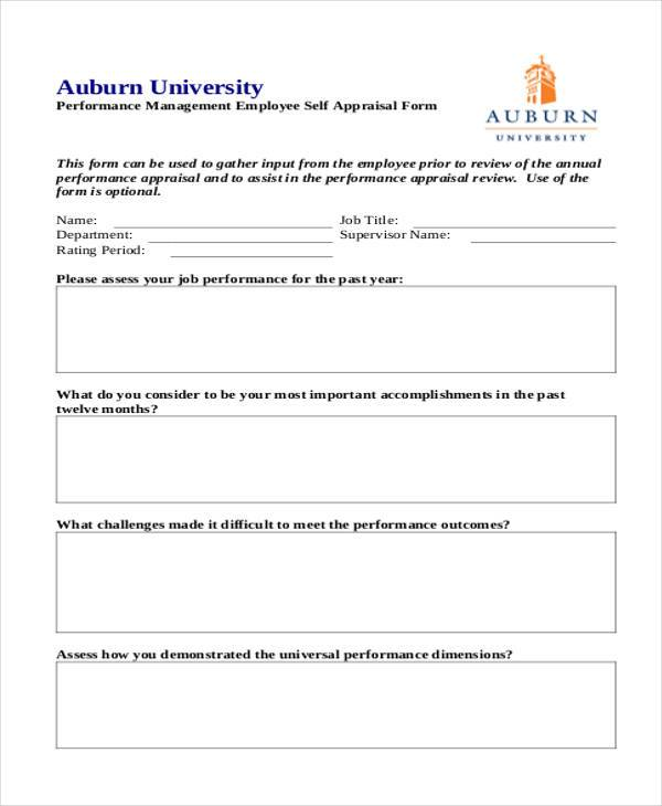 28 sample appraisal formats free sample example format download performance self appraisal format spiritdancerdesigns Image collections