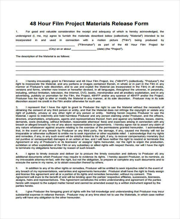 permission to film release form