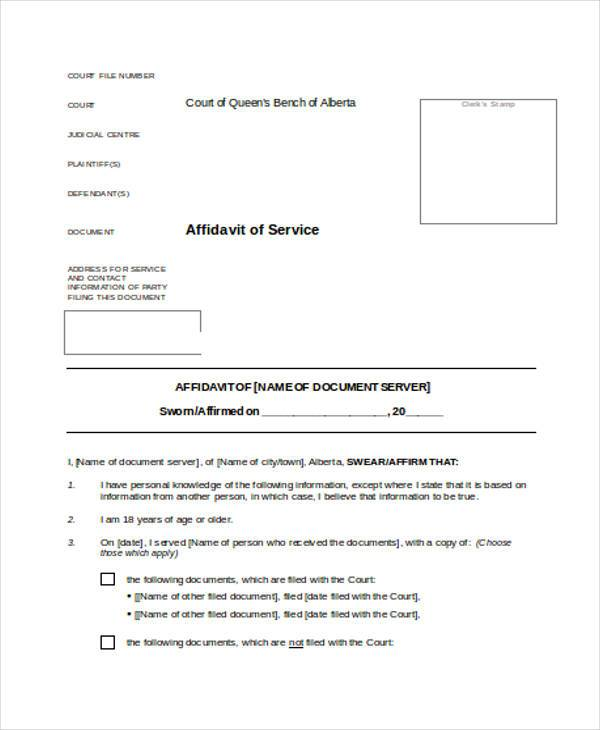 Sample Personal Affidavit Forms - 7+ Free Documents in Word, PDF