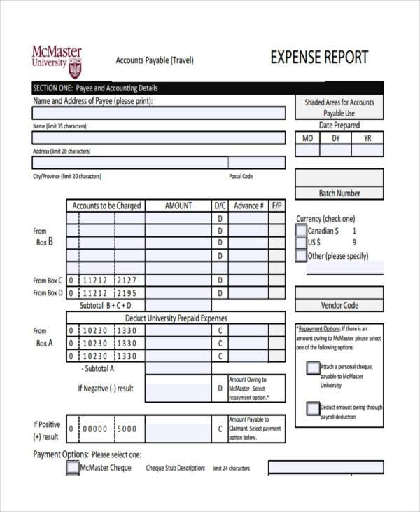 Sample Personal Expense Forms   Free Documents In Word Pdf