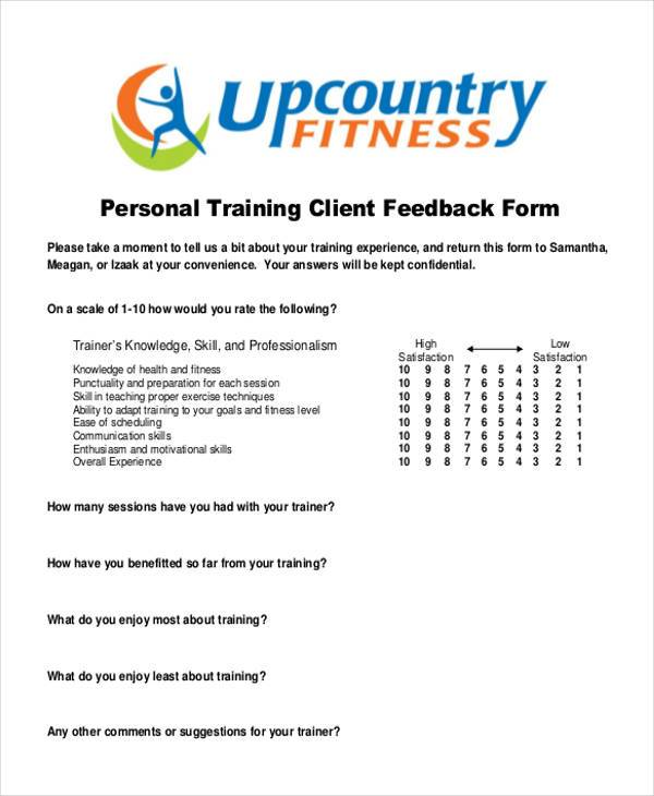 Sample Client Feedback Forms   Free Documents In Word Pdf