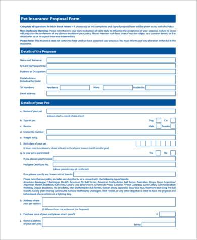 pet protection agreement form