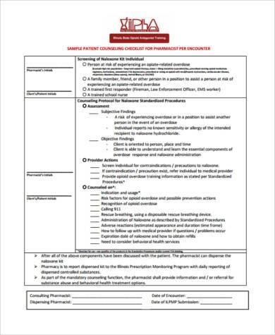 pharmacy patient counseling form