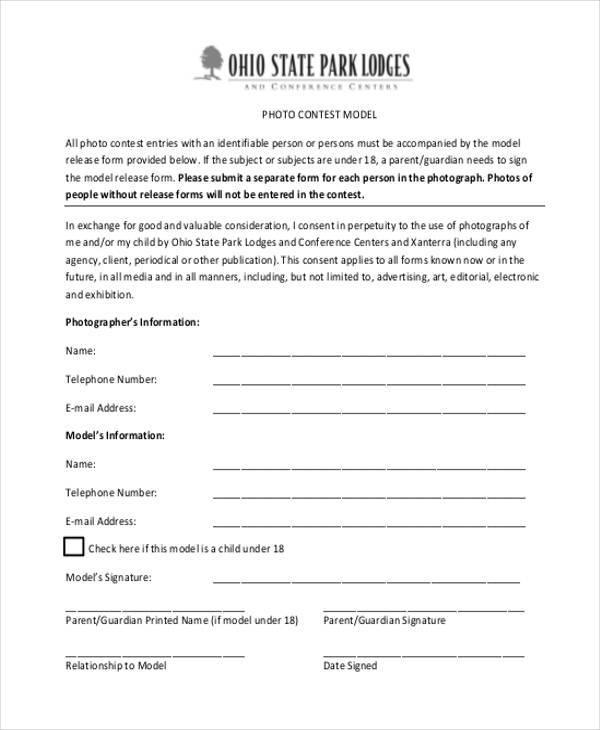 photo model consent form