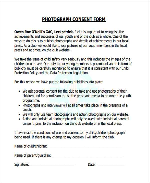 photography consent form in pdf