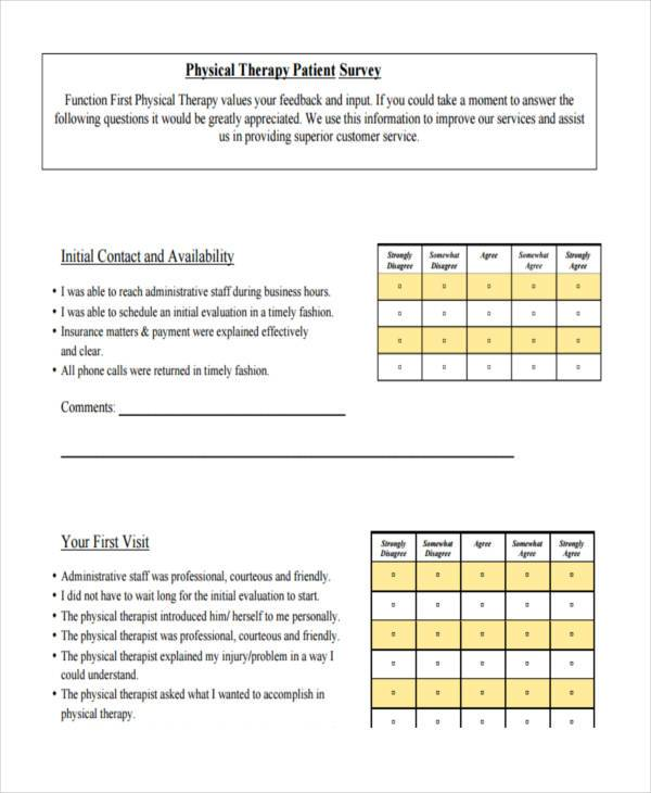 Patient Feedback Form Samples  Free Sample Example Format