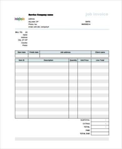Sample Plumbing Invoice Forms 7 Free Documents In Word Pdf
