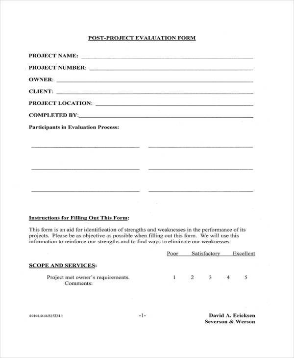 post project evaluation form1