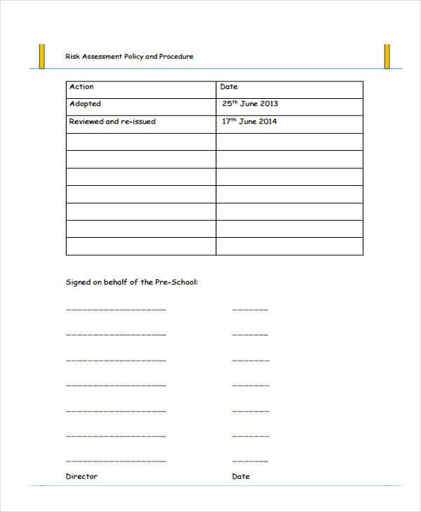 Sample preschool assessment forms 8+ free documents in word, pdf.