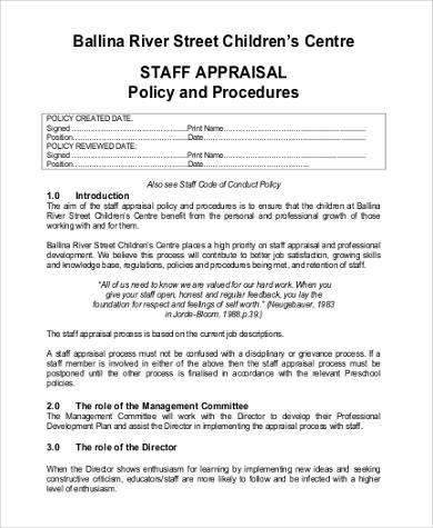 preschool staff appraisal form1