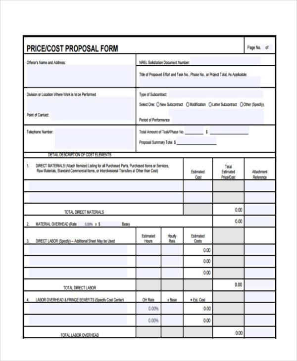 price cost proposal form1