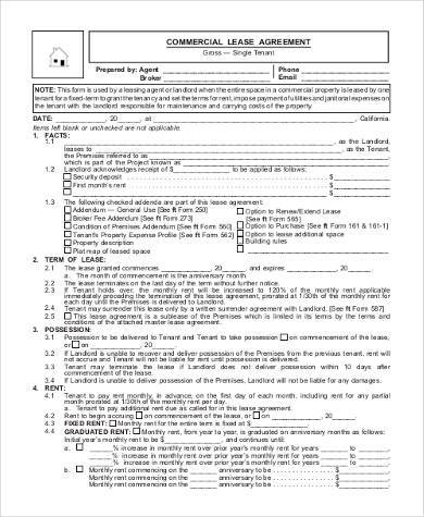 Printable Agreement Form Free Lease Rental Agreement Forms Ez