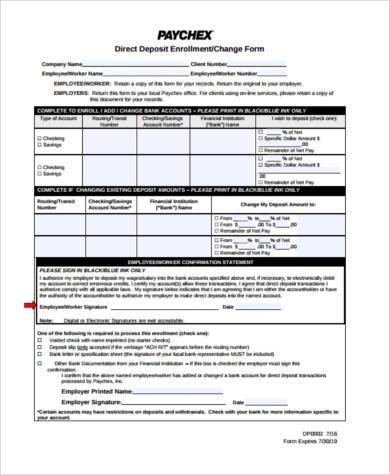 printable direct deposit form in pdf
