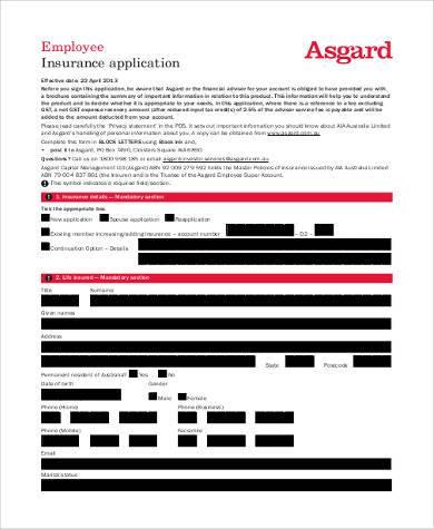 printable employment insurance application form