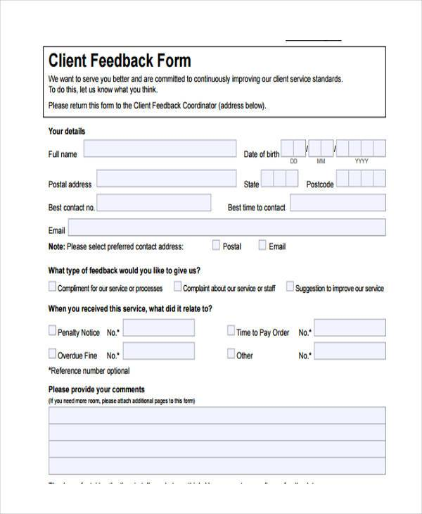 Sample Performance Feedback Forms - 8+ Free Documents in Word, PDF