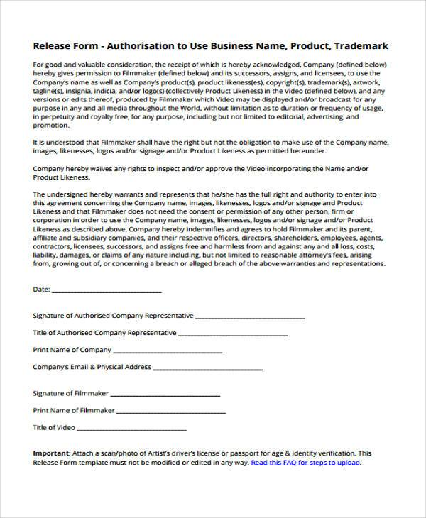 Note Release Form Samples  Free Sample Example Format Download