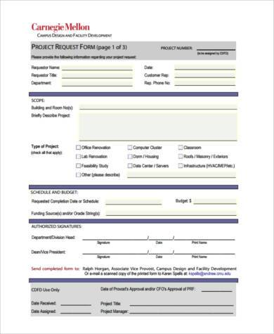 7+ Project Budget Form Samples - Free Sample, Example Format