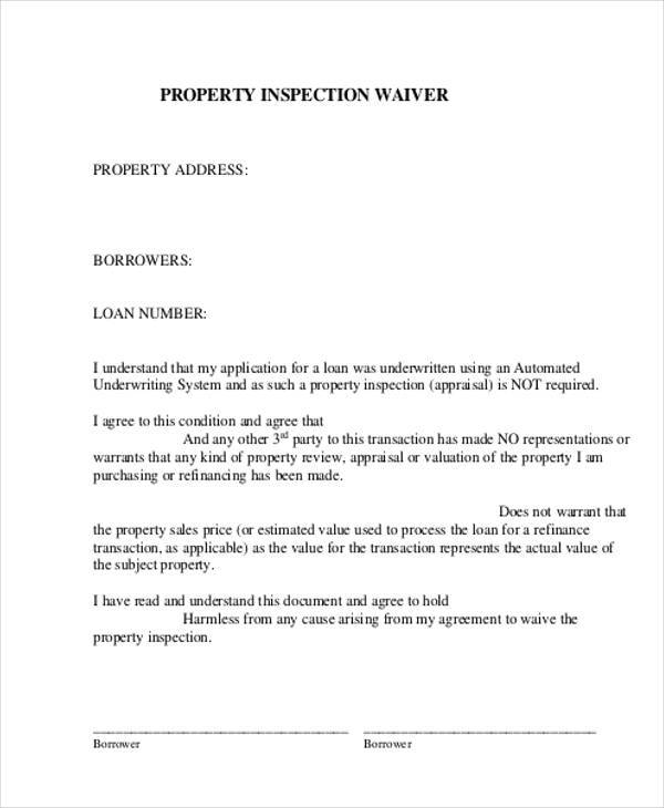property appraisal waiver form1