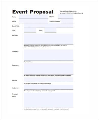 proposal budget form example