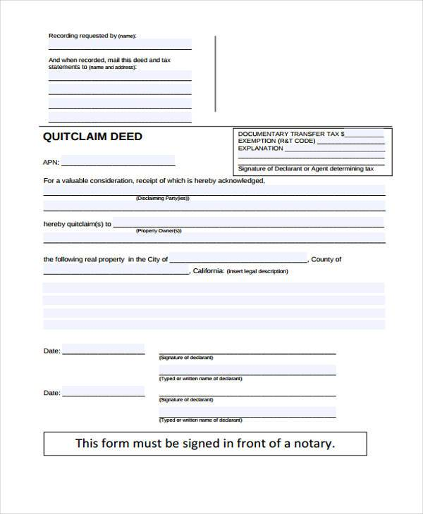 Deed Release Form Samples  Free Sample Example Format Download