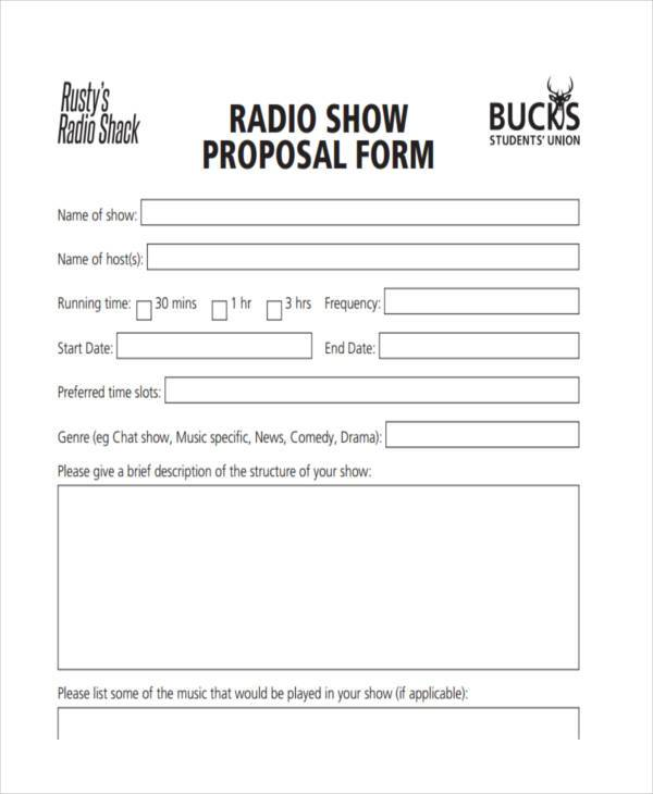 Advertising Proposal Form Samples  Free Sample Example Format