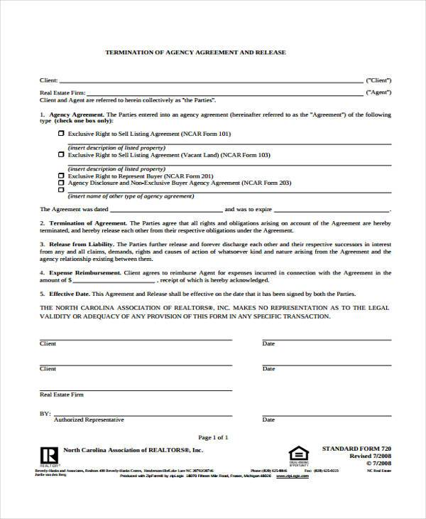 8 Real Estate Release Form Samples Free Sample Example Format