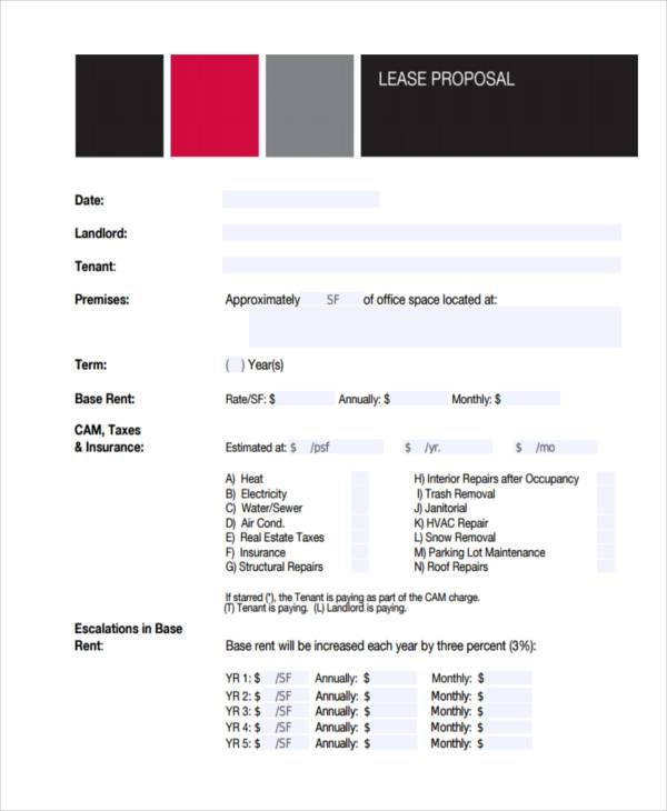 real estate lease proposal form1
