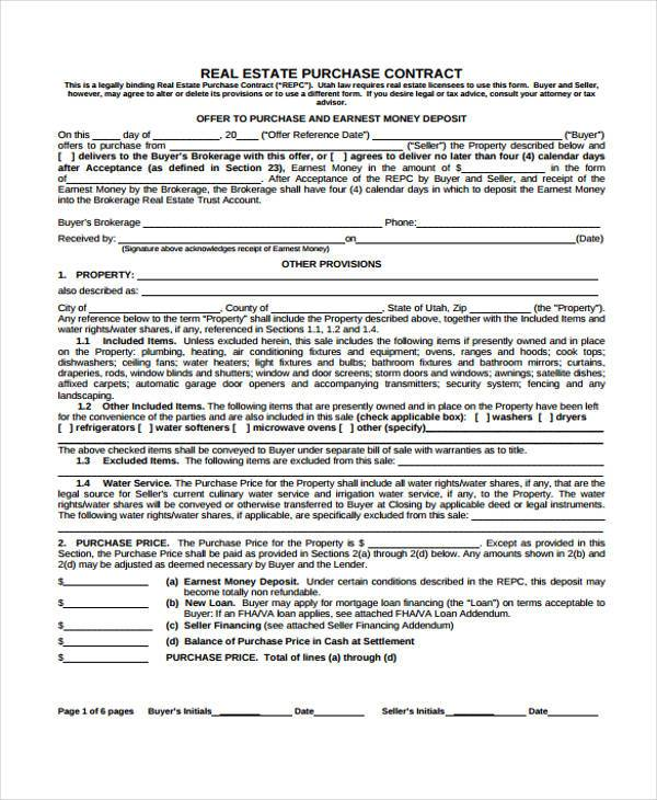 real estate purchase contract form2