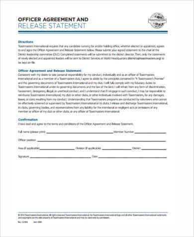 release agreement form in pdf