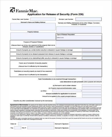 release of security agreement form1