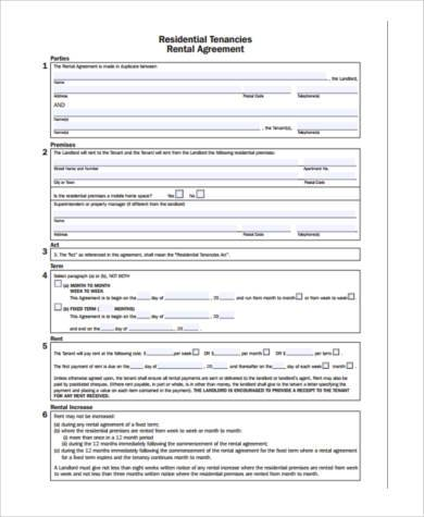 rental agreement deposit form1