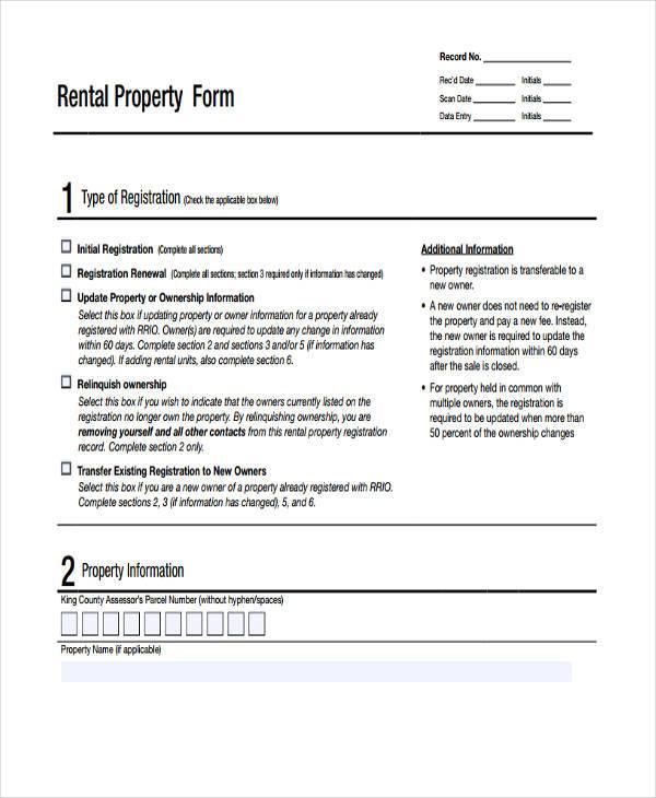 rental property evaluation form