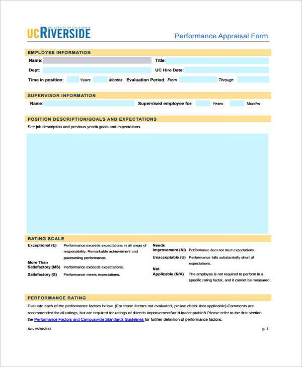 7+ Retail Appraisal Sample Forms - Free Example, Sample, Format Download