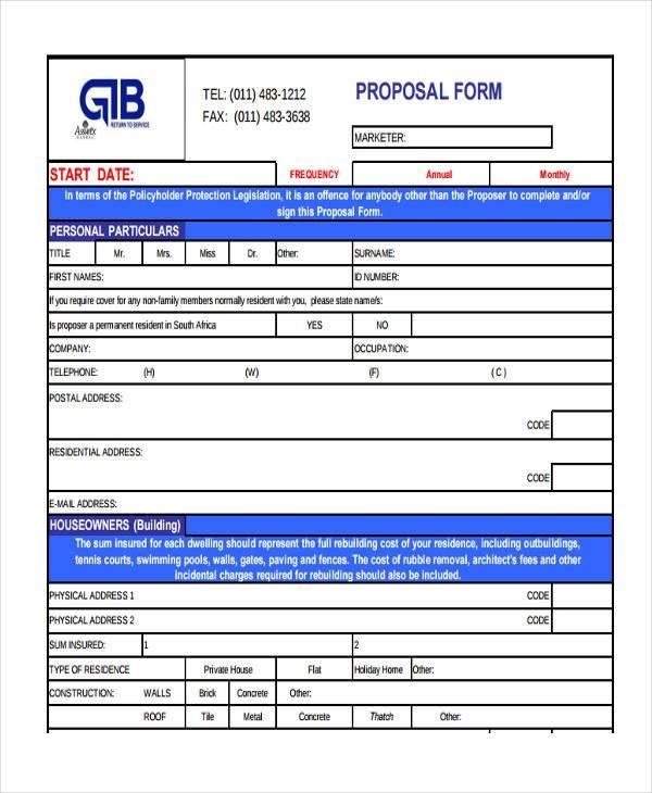 free blank proposal forms koni polycode co