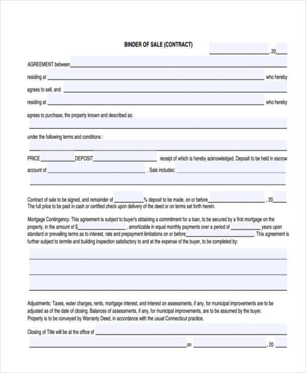 sales contract agreement form in pdf