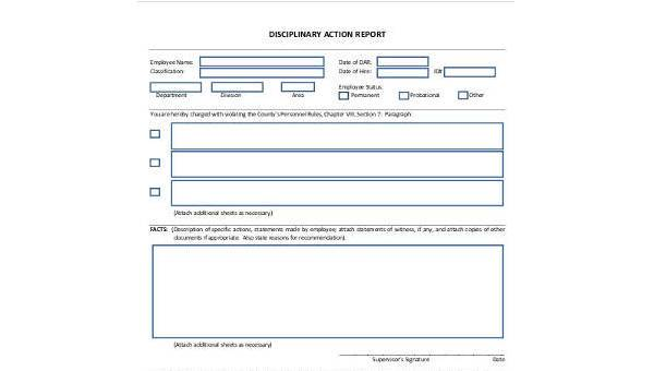 sample action report forms 8 free documents in word pdf