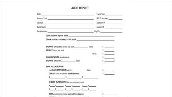 FREE 8+ Sample Audit Report Forms in PDF | WORD